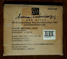 Home Interiors Wildflower Romance Candle Jar Shade Topper Pierced Med-Lg New