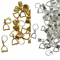 New 10/20/50Pcs Silver Gold Pendant Pinch Bails Clasp Metal Clips 14/18/20/26MM