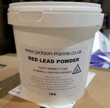 Red Lead Powder 1KG to make Red Lead Putty for stopping Boat Seams FREE Delivery