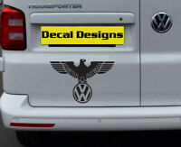VW IRON EAGLE VINYL DECAL STICKER VOLKSWAGEN T25 T4 T5 T6  GOLF PASSAT BEETLE