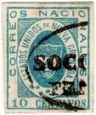 COLOMBIA - CLASSIC - 10c STAMP - SOCORRO FRANCA CANCEL - T2 - Sc 16 - 1861 $175