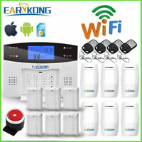 Wifi GSM Alarm System PSTN Wireless & Wired Detectors Alarm Smart Home Relay