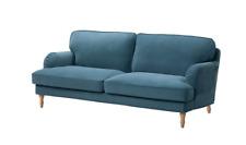 New Ikea STOCKSUND 3 seat sofa COVER SET in Tallmyra blue