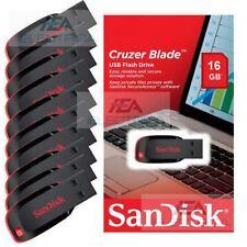 10x SanDisk 16GB Cruzer Blade 16G USB2.0 USB Flash Drive Disk CZ50 Lot of 10pcs