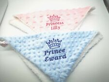 Personalised Baby Comforter  BLANKIE Quality Gift  NEW 2019 PRINCE / PRINCESS