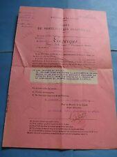 ORDRE DE MOBILISATION Pour CAPITAINE LAZERGES 1925 FAMILLE AMIRAL HERBOUT Signé