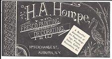 Artistic Printing, Fresco Painter & Decorator, Auburn, NY c1870s