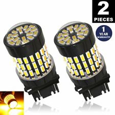 LUYED 2× 3157 3156 3056 3057  Turn Signal Tail  Brake 12-24V  LED Bulbs, Amber