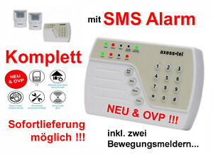 SMS Funk Alarmanlage Alarm Garage Garten Laube Scheune Haus Büro Lager Keller