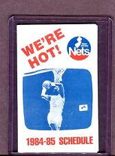 New Jersey Nets 1984-85 Basketball Schedule 060717jh