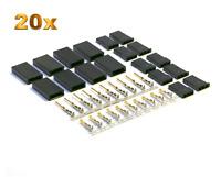 20 Paar Servo Stecker Vergoldet Buchsen JST-SH Graupner JR Servo Crimp Set Pins