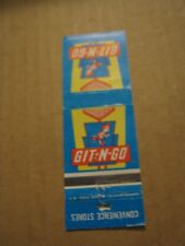 Vintage GIT-N-GO Convenience Stores Empty Matchbook