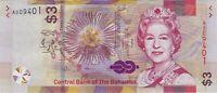 "Bahamas, 2019 3 Dollars P-New  ((UNC))   'A Prefix, Low 4 digit S/N"""