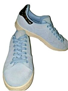 Men's Classic Adidas Stan Smith Trainers Size UK 6 - Powder Blue EU 39