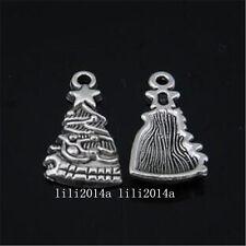 10pc Tibetan Silver Christmas tree Charm Beads Pendant accessories PL1043