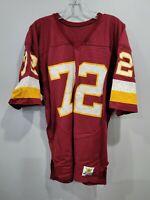 VTG 80s Sand Knit Authentic NFL Washington Redskins 72 Football Jersey Mens 44 L