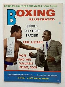 1970 Boxing Illustrated Magazine Featuring Cassius Clay & Joe Frazier on Cover.