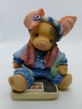Enesco Tlp 1994 This Little Piggy Had None weight scale Figurine