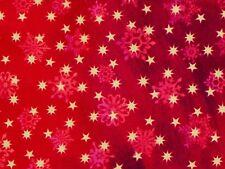 FAT QUARTER  CHRISTMAS STARS SNOWFLAKES QUILTING TREASURES 100% COTTON FABRIC FQ