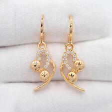 18K Yellow Gold Filled Women Clear Mystic Topaz Drop Dangle Earrings