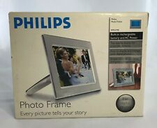 "Philips 9"" Digital Modern Metal Photo Frame, Brushed Steel - 9FF2CME New"
