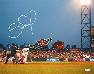 Pablo Sandoval Autographed 16x20 Batting Photo- JSA W Authenticated