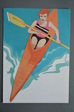 R&L Postcard: 1984 Los Angeles Olympics, Robert Peak, Canoe Kayak