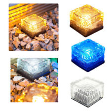 Solar Power LED Ice Cube Brick Ground Light Garden Outdoor Pathway Pathway Lamp