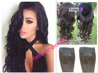 Wavy 3/4 Ladies Half Wig India Remy Human Hair Wigs with Comb on a Mesh Head Cap