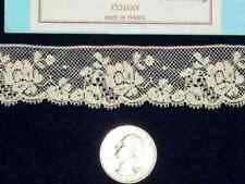 ~  DOLL HEIRLOOM SEWING M PULLEN FRENCH VAL COTTON  LACE EDGE IN HTF ECRU BTY ~