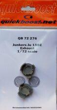 Quickboost 1/72 Junkers Ju188E Exhaust # 72276