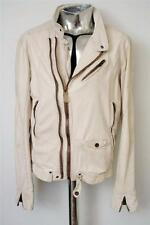 Men's Diesel LIMPID White Leather Jacket Large RRP£640 coat veste en cuir pelle
