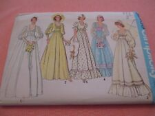 Vtg Womens Simplicity Pattern 7389 1976 Wedding Dress Bridesmaid Size 6 Uncut