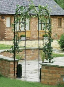 Metal Garden Arch Heavy Duty Strong Rose Climbing Plants Archway outdoor 2.4M