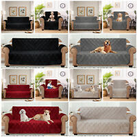 Quilted Waterproof Sofa Slip Couch Cover Anti Slip Pet Protector Sofa Covers