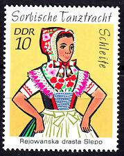 1668 postfrisch DDR GDR Year Jahrgang 1971 Schleite Tracht Sorbische Tanztracht