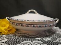 """1900's Antique Noritake Nippon Large Oval Covered Casserole Dish W/ Lid - 12"""""""