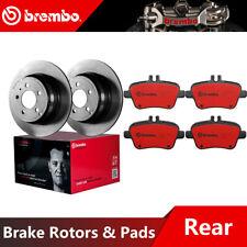 Brembo Rear Brake Rotors & Ceramic Brake Pads For 2015-2016 Mercedes-Benz CLA250