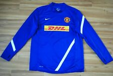 MANCHESTER UNITED AUTHENTIC NIKE 2011/12 TRAINING TRACK TOP JERSEY LONGSLEEVE XL