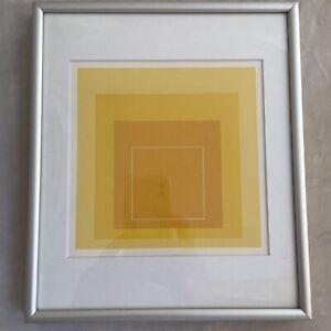 Josef Albers White Line Square Yellow Mini Print Gemini G.E.L. Original, Framed