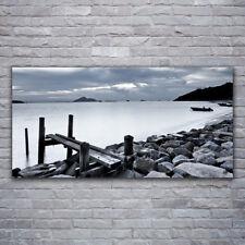 Acrylglasbilder Wandbilder aus Plexiglas® 120x60 Meer Strand Steine Landschaft
