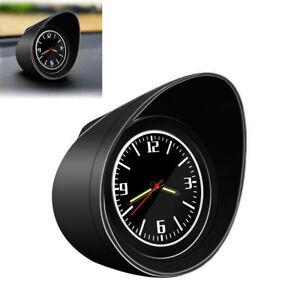 Car Interior Dashboard Clock Pointer Luminous Backlight Universal w/Black Shell