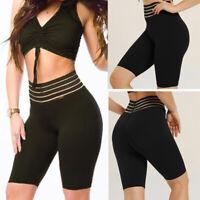 US Women Push Up Hot Stretch Yoga Shorts Gym Workout Sport Fitness Scrunch Pants