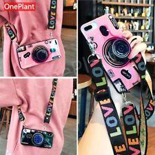 3D Retro Camera lanyard Case 4 iphone 12 11 Pro X XR XS MAX 6s 7 8 Plus/Samsung
