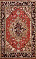 Geometric Heriz Serapi Hand-knotted Oriental Area Rug Medallion Wool 8x10 Carpet