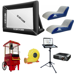 4M*3M Inflatable Giant Movie Screen 16:9 Outdoor Projector Cinema Theatre KIT