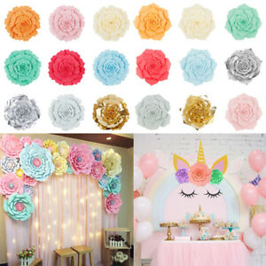 30/40CM Large Paper Backdrop Rose Flowers Wedding Birthday Party Wall Decoration