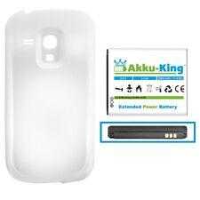 Akku-King 3000mAh Power Akku für Samsung Galaxy S3 mini GT-i8190 EB-FIM7FLU Weiß