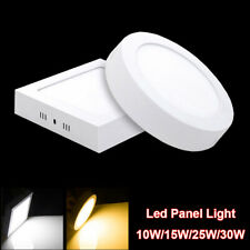 Dimmable Surface Mounted LED Panel Light Ceiling Downlight Lamp Round Square