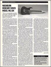 Washburn Mercury Series MG-104 Guitar 8 x 11 sound check gear review